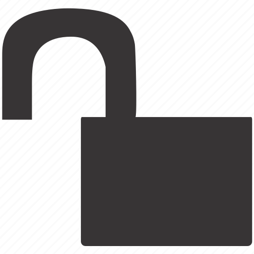lock, security, theft, unlock, unlocked, unsafe, unsecure icon