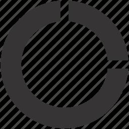 chart, diagram, part, portion icon