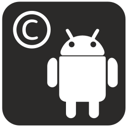 android, copyright, smartphone, technology icon