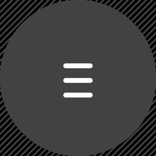 bar, hamburger, lines, list, menu, option, web icon