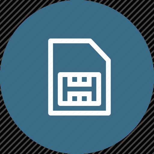 card, cdma, gsm, phonesimcard, sim, simcard, telecommunication icon