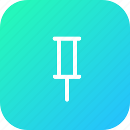 attach, marker, office, pin, pointer icon
