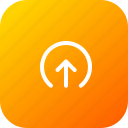 arrow, elliepse, forecast, sync, up, upload icon