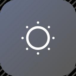 adjust, brightness, control, interface, light icon