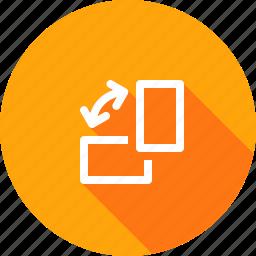 mobile, orientation, rotate, rotation, screen, window icon