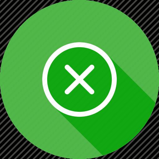 cancel, close, delete, discard, dismiss, exit, remove icon