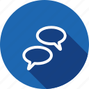 chat, chatting, comments, communication, groupchat, talking icon
