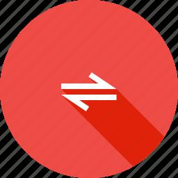 arrow, bidirectional, direction, path, twoway icon
