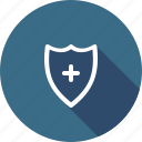 add, firewall, protection, safety, secure, security, shield icon
