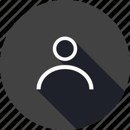 account, contact, interface, man, profileoutline, user icon