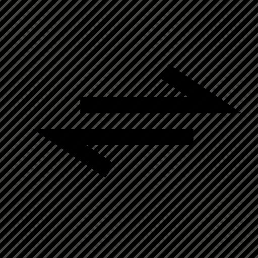 arrow, bidirectional, direction, twoway, viceversa, way icon