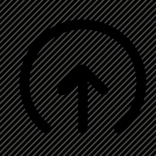 arrow, elliepse, forecast, sync, up, upload icon