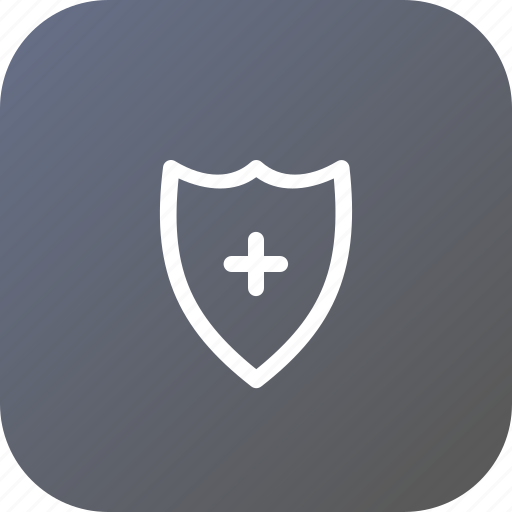 Add, firewall, protection, safety, secure, security, shield icon - Download on Iconfinder
