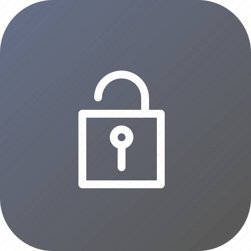 interface, lock, security, theft, unlock, unsafe, unsecure icon