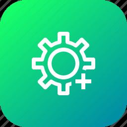 add, change, customize, insert, options, setting, up icon