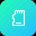 chip, memorycard, microsd, sd, sdcard, storage icon