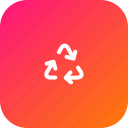 arrows, bin, recycle, recyclebin, sign, trash, triangle icon