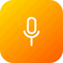 mic, microphone, recoder, record, sound, speak, voice icon