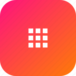 android, collection, gallery, grid, interface, menu, set icon