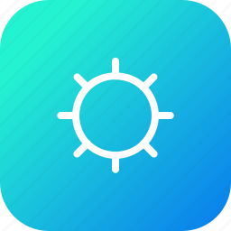 adjust, brightness, full, interface, light, no, sun icon