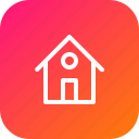 address, building, home, house, location, main, page icon