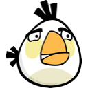 angry birds, white bird