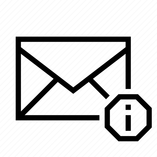 detail, email, envelope, info, information, mail icon