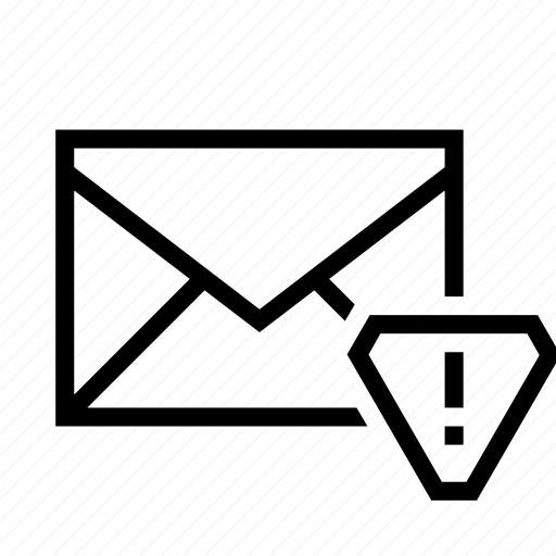 alert, email, envelope, mail, warning icon