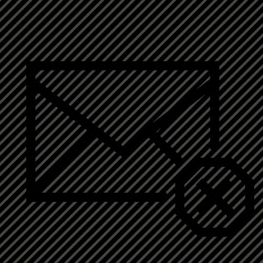 close, delete, email, envelope, mail, remove icon