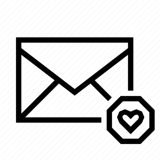 email, envelope, favorite, heart, mail icon