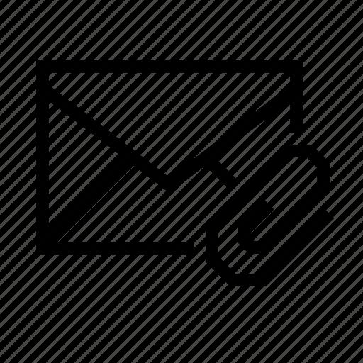 attachment, clip, email, envelope, file, paper icon