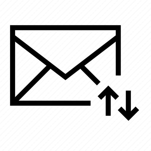 arrow, down, email, envelope, sync, transfer, up icon