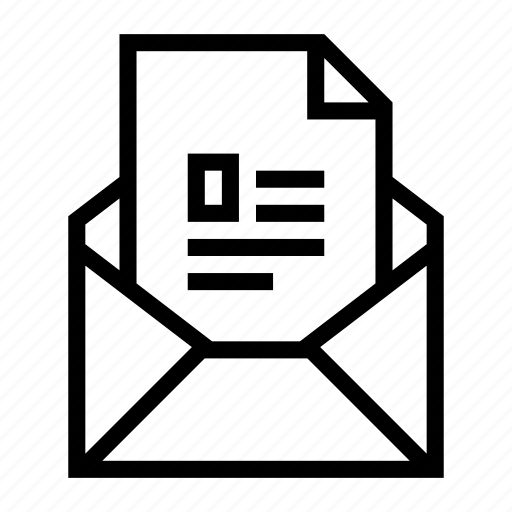 attachment, document, email, envelope, file, profile, send icon