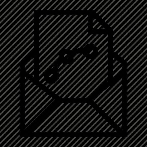 attachment, design, document, email, envelope, send, vector file icon