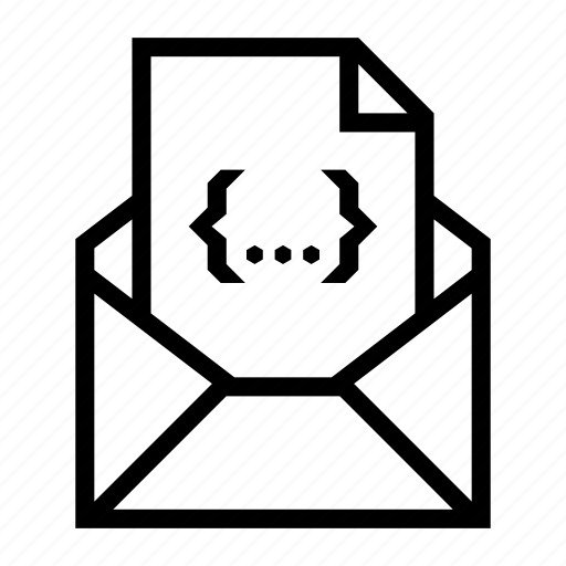attachment, code file, css, document, email, envelope, send icon
