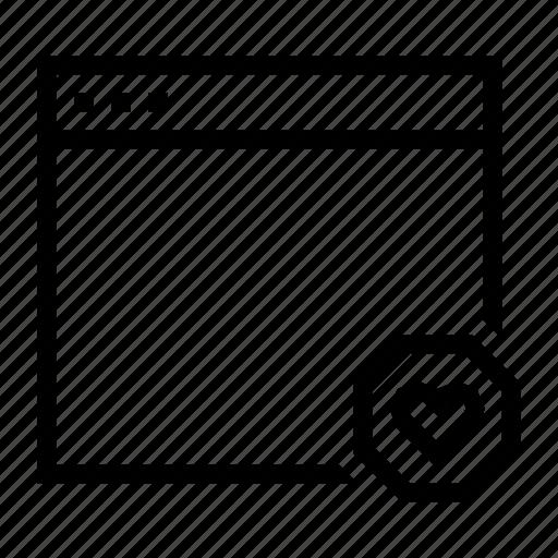 application, favorite, heart, interface, window icon