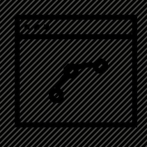 application, design, draw, interface, vector, window icon