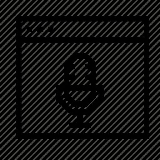 application, audio, interface, recorder, window icon