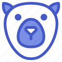 animal, arctic, bear, ice bear, wildlife, zoo icon