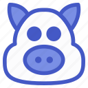 animal, bacon, pet, pig icon