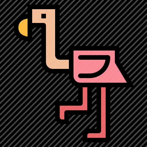 animal, bird, flamingo, wildlife icon