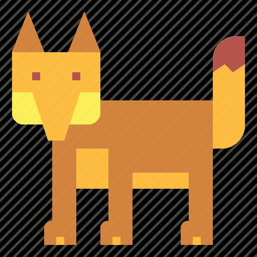 animal, fox, wildlife, zoo icon