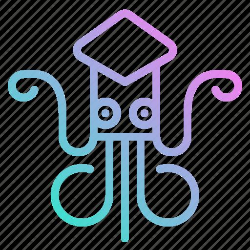 animal, aquarium, aquatic, sea, squid icon