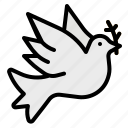 bird, dove, peace, pigeon, wedding icon