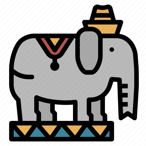 animal, circus, elephant, wild, zoo icon