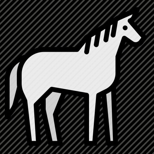 animals, horse, mammal, wild, zoo icon