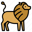 animals, kingdom, lion, mammal, zoo icon