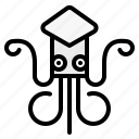 animal, aquarium, aquatic, sea, squid icon