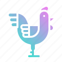 animal, animals, bird, chicken, farm, food icon