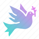 animal, bird, dove, peace, pigeon, wedding icon